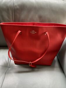 Coach Red Orange Leather Tote $85.00