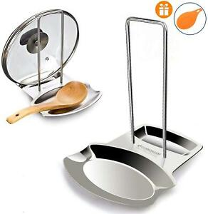 Yummy Sam Lid and Spoon Rest Stainless Steel Utensils Lid Holder Ladle Rest Pot
