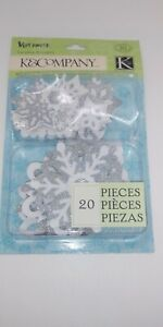 KCompany Very Merry Snowflakes Layered Accents with Glitter *NEW* $5.00