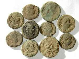IVLLA 10 Ancient Roman Coins Uncleaned and As Found 01802 $26.95