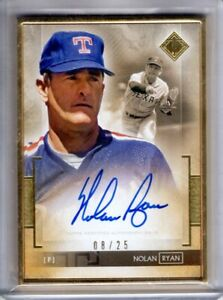 2020 Transcendent Collection Auto NOLAN RYAN Gold Framed AUTOGRAPH 08 25 Topps $279.99