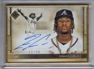 2020 Transcendent Collection Auto RONALD ACUNA JR Gold Framed AUTOGRAPH 25 Topps $344.99