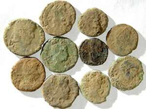 IVLLA 10 Ancient Roman Coins Uncleaned and As Found 02001 $26.95