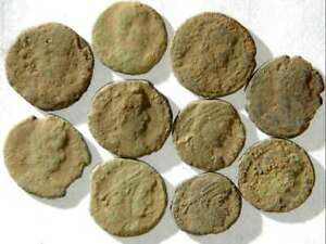 IVLLA 10 Ancient Roman Coins Uncleaned and As Found 02101 $26.95