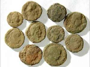 IVLLA 10 Ancient Roman Coins Uncleaned and As Found 02007 $26.95