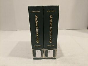 Two Vol BOOKS SET ABRAHAM LINCOLN A LIFE MICHAEL BURLINGAME VOLUME ONE TWO $99.99