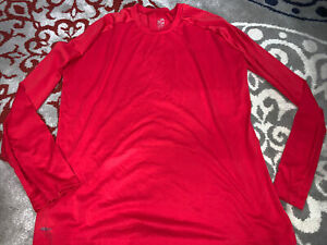 Nike Fit Dri Team Long Sleeve Shirt Men's XXXL 3XL Red $16.00