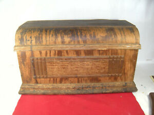 Antique Sewing Machine Wood Coffin Top Cover Lid Victorian Age $24.95