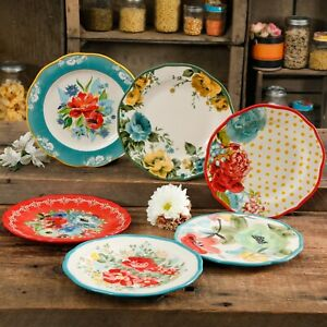 The Pioneer Woman Collected 6 Piece Salad Plate Set *FREE SHIPPING* $49.99