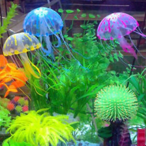 Home Soft Pet Supplies Fish Tank Solid Glowing Simulation Artificial Jellyfish $4.03