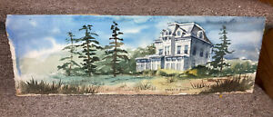 Vintage Watercolor Listed Stanley Carl Brodey NY 1920 2005 House In Landscape $99.99