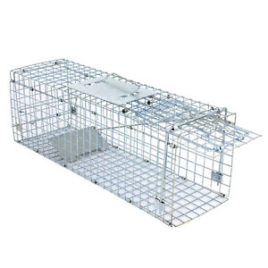 Live Animal Trap Extra Large Rodent Cage Garden Rabbit Raccoon Cat 24quot;X8quot;X 7.5quot;