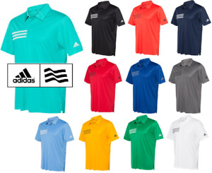 ADIDAS Mens 3 Stripe Chest DRI FIT GOLF Polo Sport Shirts Size S 4XL NEW A324 $30.45