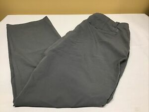 Mens Under Armour Golf Pants Flat Front Gray Size 36 X 32 Loose Fit EUC $18.95