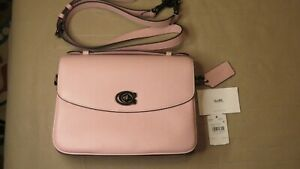 COACH Cassie Pebbled Leather Crossbody Bag in Aurora Pink NWT 🌺🌹