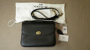 COACH Cassie Pebbled Leather Crossbody Bag Purse in Black 🌺🌹