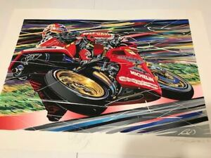 RANDY OWENS SERIGRAPH TROY CORSER DUCATI 1996 TROY AUTOGRAPHED $48.88