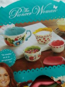 The Pioneer Woman Breezy Blossom Stackable 4 Piece Measuring Bowl Set $20.00