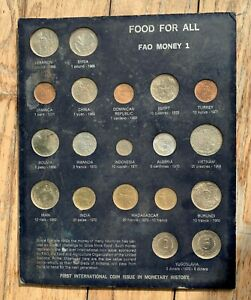 FOOD FOR ALL FAO MONEY 1 19 COINS SET $40.00