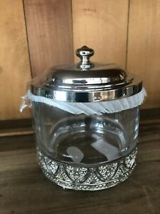 BELLA LUX HEAVY CRYSTAL WITH FTD VICTORIAN BASE W BLING COVER VANTIY JAR NWT