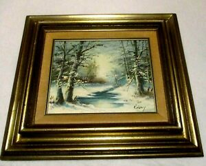 ORIGINAL OIL PAINTING ON CANVAS FRAMED IN A 8 x 10 WOOD FRAME $27.50