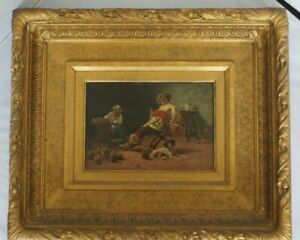 Antique Oil on Board Painting $400.00
