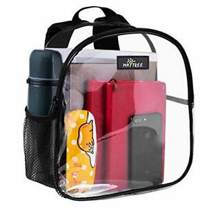 Mini Clear Backpack Small For School Work Stadium Zipper Closure Comfortable New