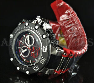 Invicta 52mm Subaqua Noma VII Dragon SWISS MOVT Chronograph Black Red Watch NEW $169.99
