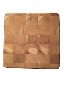 Solid Wood Checkered Square Cutting Board $18.00