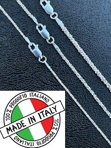 Real Solid 925 Sterling Silver Diamond Cut Sparkle Rope Chain Necklace 1mm 3mm $19.79