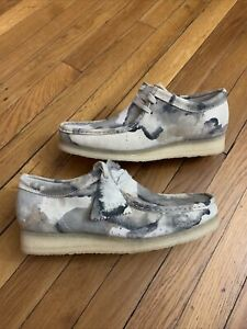 Clarks Originals Wallabee off white Camouflage Wallabee Men's US sizes 9 10.5 $154.00