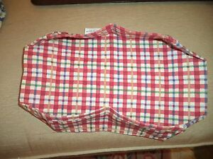 Longaberger Stand Up Picnic Pal Basket Liner Cherry Red Plaid New Old Stock $9.99