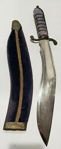 Vintage Gurkha Kukhri Curved 14quot; Blade Etched Ornate *Made in India* w Sheath $49.99
