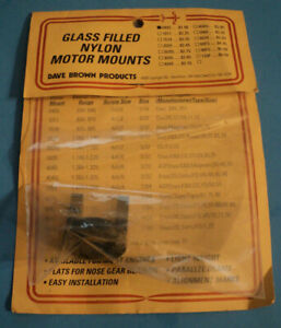 New Old Stock Dave Brown Glass Filled Nylon RC Motor Mounts Part # 0405 $15.99