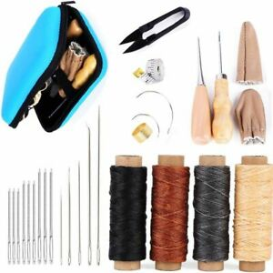 Leather Sewing Kit Working Tools And Supplies With Large eye Stitching Needles $30.99
