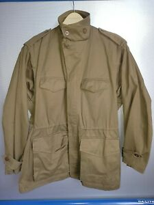 Vintage 1980s French Military Army Jacket Olive Green Uniform size 26 $125.00