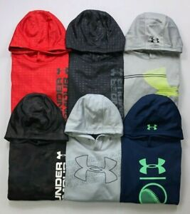 Boys Youth Under Armour Cold Gear Loose Fit Polyester Pullover Hoodie $25.99