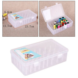 Sewing Thread Holders Storage Container with 42 Compartments Clear Large $11.09