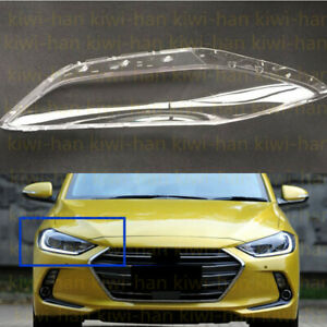 Replace Right Side Clear headlight cover PCGlue For Hyundai Elantra 2017 2018AA $56.40