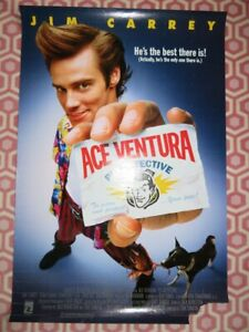 ACE VENTURA PET DETECTIVE ONE SHEET ROLLED POSTER JIM CARRY 1994 GBP 13.99