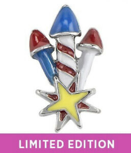 Authentic Origami Owl 4TH OF JULY TRIPLE FIREWORKS #3 Floating Enamel Charm