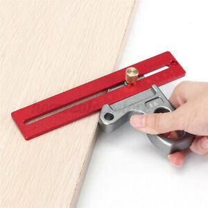 45 90 Degree Ruler Scribe Gauge Measuring Tool Woodworking Angle Tool Wort Red $35.11