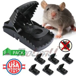 6 Pack Large Rat Traps Big Reusable Snap Traps Mouse Killer Easy to Bait and Set