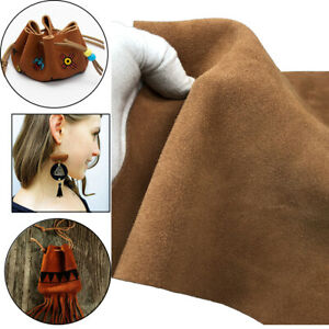Suede Leather Square For Craft Hobby Medium Brown DIY Gift Leather Pieces $40.45