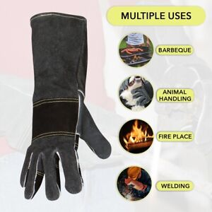 Welding Gloves Max Fireplace Protective Leather Gear for Men and Women Welders $15.99
