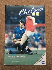 Chelsea v Manchester United Barclays League Division 1 February 1988 87 88