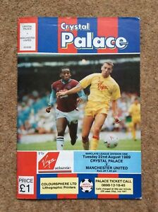 Crystal Palace v Manchester United Barclays League Div 1 August 1989 89 90