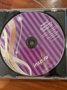 INSPIRA EMBROIDERY DESIGN CD ROM 10 DESIGNS EMBROIDERY EVENT VP3 2010 SEWING $10.00