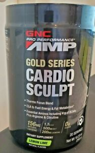 GNC PRO PERFORMANCE AMP gold series CARDIO SCULP LEMON LIME 20 SERVINGS THERMO F $21.50