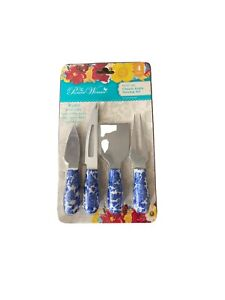 The Pioneer Woman 4 Piece Heritage Floral Cheese Knife Set
